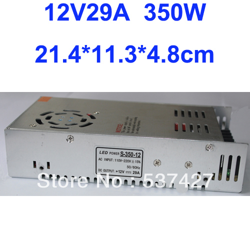 Free Shipping, 12V 29A 350W Switching Power Supply For LED Strip light AC100V-240V Input, CE&amp;RoHS Certified<br><br>Aliexpress