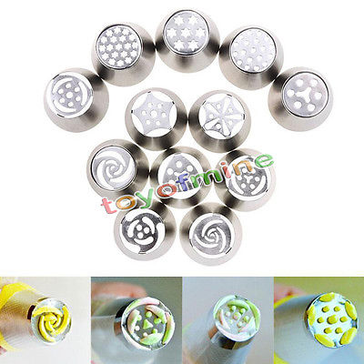 17 Kinds Style Russian Tulip Icing Piping Nozzles Stainless Tips Cake Decorating Tool(China (Mainland))