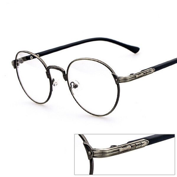 Metal Eyeglass Frame Materials : Free Shipping retro metal eyeglass frames with male and ...