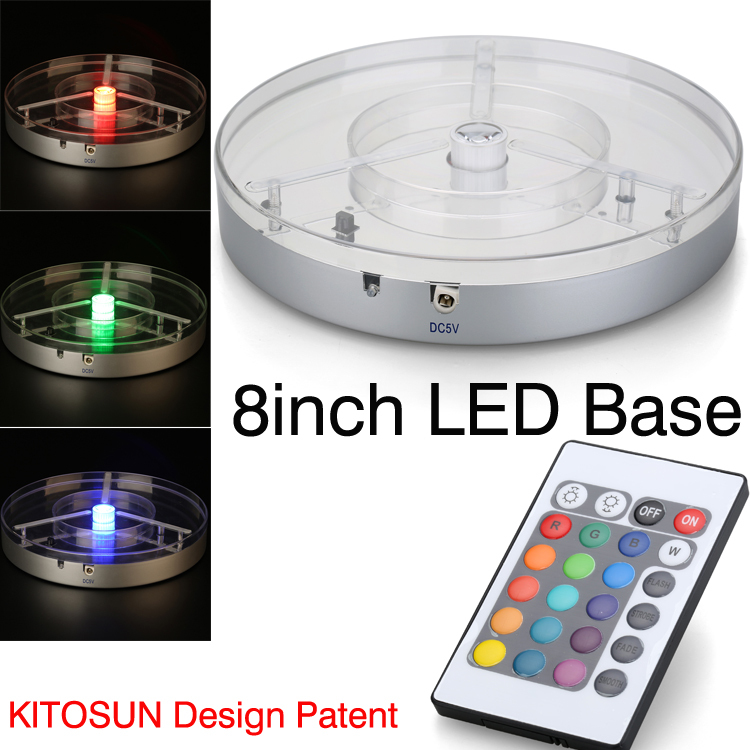 Koyal Acolyte 8inch Centerpiece Light Base E-Maxi High Power RGBW LED Light, Remote Controlled Multicolors Vase - Battery store