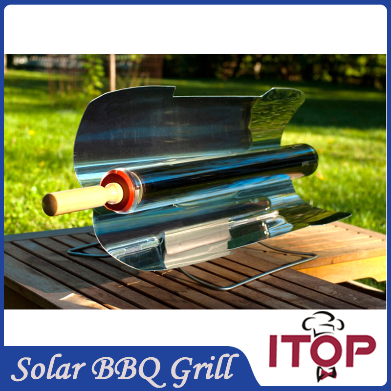 New Arrivals! Solar Oven Green BBQ Grill Barbecue Stove Folding Camping Picnic Heater Kebab Roast(China (Mainland))