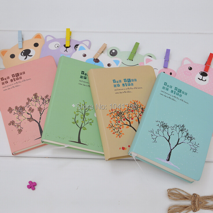 4pcs Random Color Notepad Notebook Beautiful Younger Blank Writing Paper