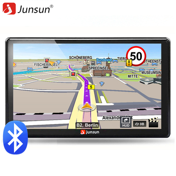 Junsun 7 inch HD Car GPS Navigation FM 8GB 256M DDR Map Free Upgrade Navitel Europe Sat nav Truck gps navigators automobile