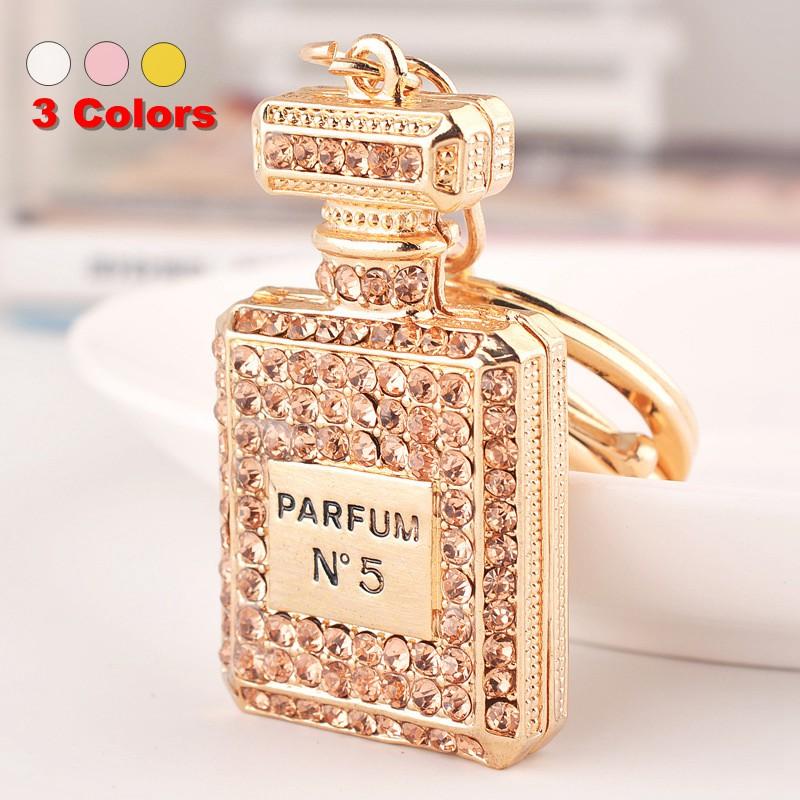 Perfume Bottle Luxury Keychain Key Chain & Key Ring Holder Keyring Porte clef Gift Men Women Souvenirs Bag Pendant Car SZ-019(China (Mainland))