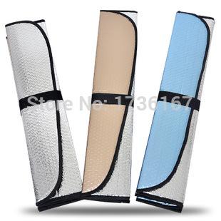 2015 HOT SALE Car Windshield Sunshade Front Rear SunShade Foldable Summer Sunscreen sunshade cover thick Foil 145*70cm CIASS043(China (Mainland))