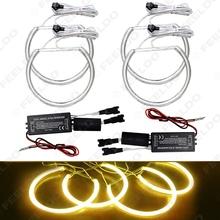4Pcs/set Yellow Car CCFL Halo Rings Angel Eyes Headlights for BMW E46,E36,E39,E318A04 Light Kits #FD-3253(China (Mainland))