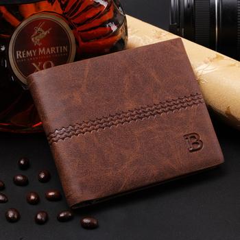 Мужчины кошельки мужские бумажник вилочная часть денежные кошельки soild узор дизайнер ...