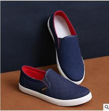 2016 lazy person shoes new spring and autumn Men's canvas shoes Don't lace belt cover mouth Men loafers Casual