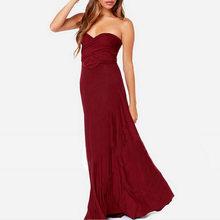 סקסי נשים תחבושת מקסי שמלה אדום חוף ארוך שמלת Multiway השושבינות להמרה לעטוף מסיבת שמלות Robe לונג Femme(China)