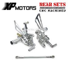 Silver CNC Billet Race Adjustable Foot pegs Control Kits Rear Sets Triumph T509 Speed Triple 1997 98 99 00 01 2002 - NIEC MOTOR PARTS store