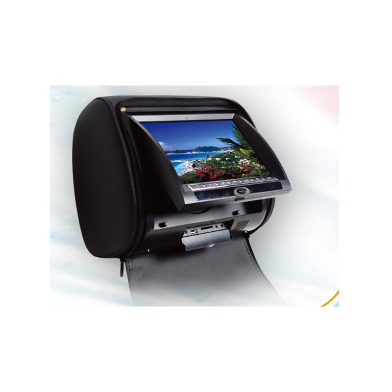 New 7 Inch Car Headrest DVD Player With FM Dual Channels IR Transmitter Analog TV Tuner Optional With Remote Control(China (Mainland))