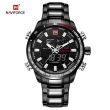 Montre analogique à Quartz pour hommes NAVIFORCE montre-bracelet de Sport de luxe en acier inoxydable étanche pour hommes horloge Relogio Masculino(China)