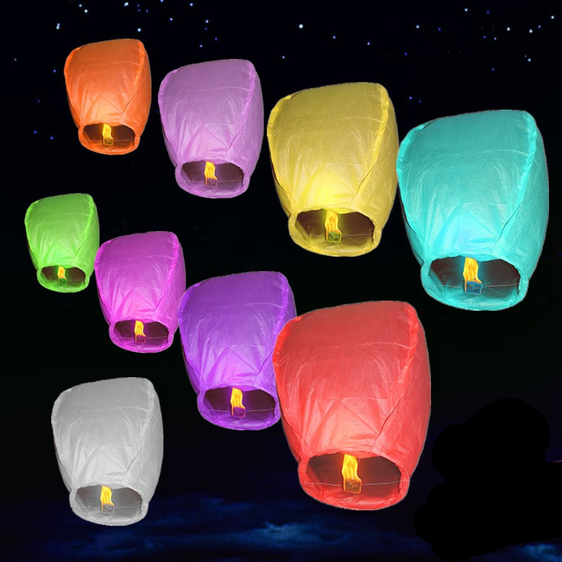 ZLJQ 10Pcs/Lot Hen Party Random Delivery Kong Ming Deng Bachelorette Party Prayer Paper Lantern Party Accessories 8D(China (Mainland))