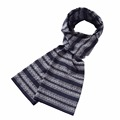 2017 Fashion Men Scarf Plaid Stripe Pattern Cotton Fabric Scarf