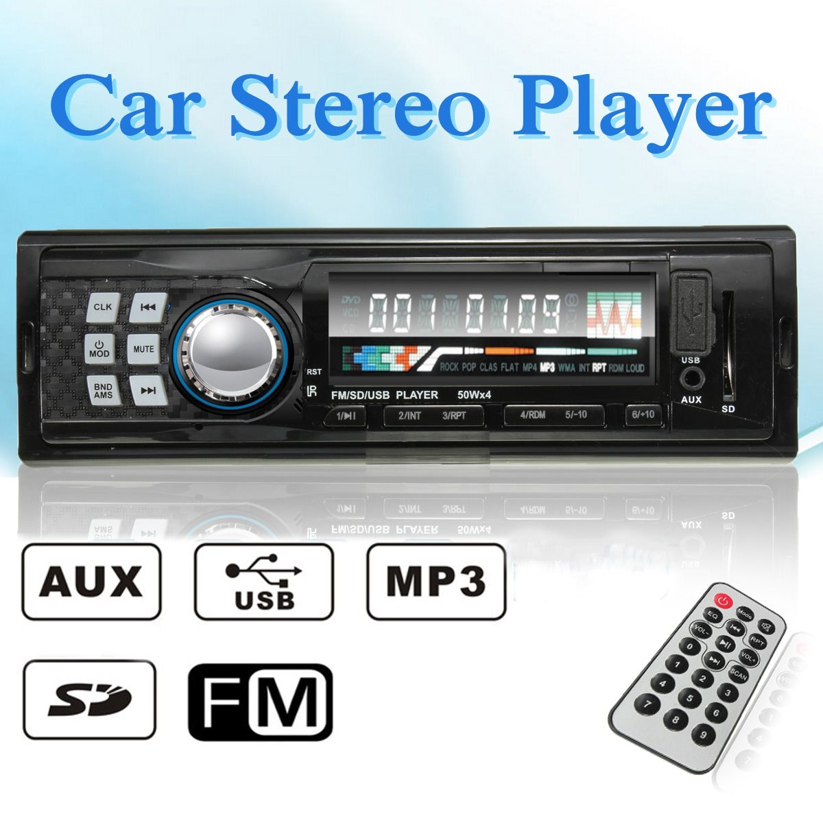 12V CAR 6242 RADIO MP3 MUSIC PLAYER STEREO IN-DASH FM USB SD AUX INPUT RECEIVER(China (Mainland))