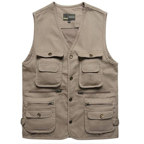 New summer fashion multi pocket fishing vest mens fishing for Mens fishing vest