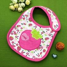 Baberos de bebé lindo patrón de dibujos animados bebé impermeable Saliva toalla algodón Fit 0-3 años de edad Burp paños alimentación DS19(China)