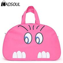 2015 New Women Handbag Women Lady Nylon Cat Print Travel Bags Luggage Duffle Sport Bags Blue Pink HL6561(China (Mainland))