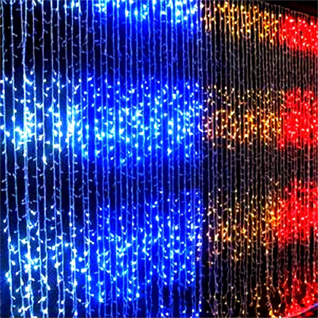 NEW SALE 400 2M*2M LED Water Flow Waterfall String Fairy Lights For Xmas Party Decoration(China (Mainland))