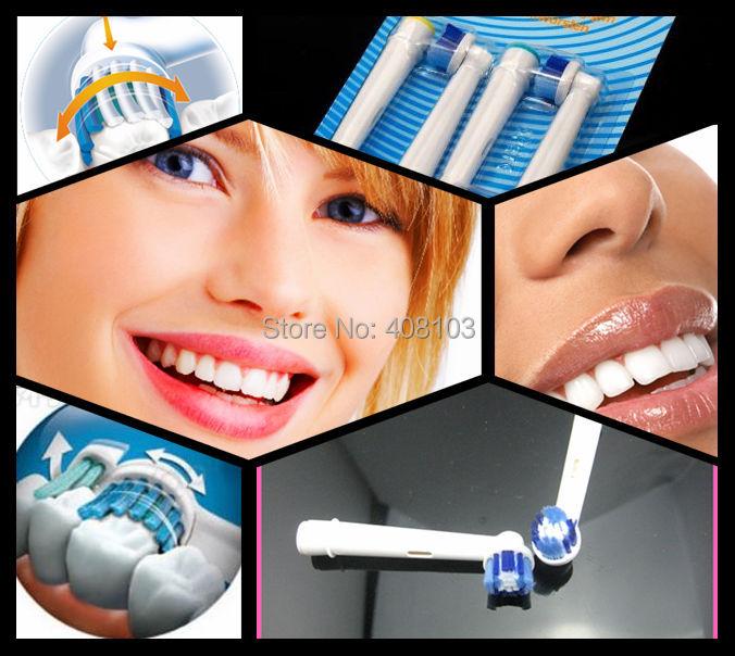 Возможно уложить 400 штук/много eb20 мягкой щетиной электрическая зубная щетка главы с четырех головой нейтральный пакет (4шт=1pack) Y07