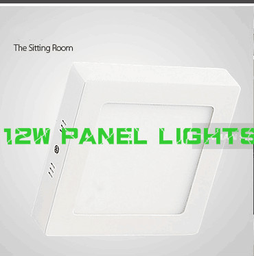 HOT! led surface mounted panel light 12w kitchen light ceiling square 2835SMD AC85-265V warm /cool white<br><br>Aliexpress