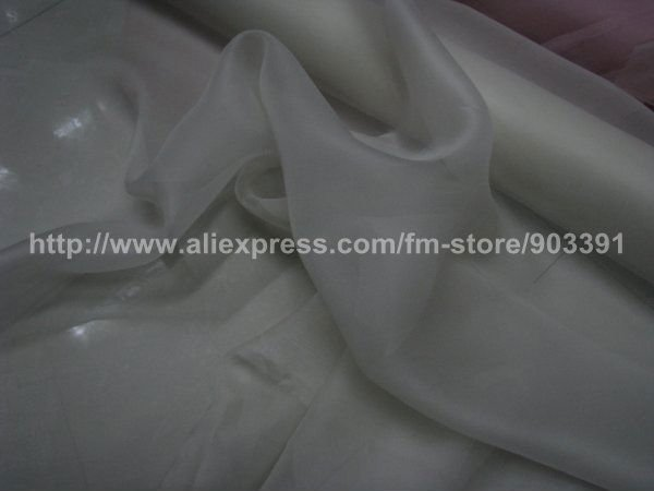 Wholesale Organza Fabric Material for Ladies Silk Dress Skirt Blouse C1944(China (Mainland))
