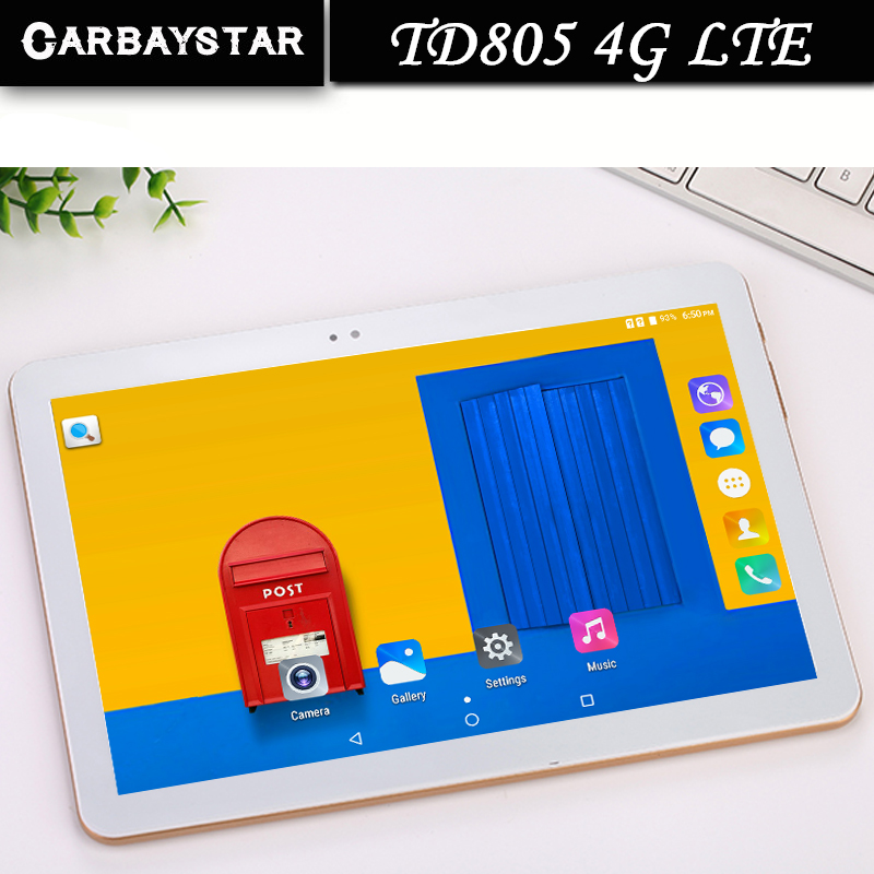 "CARBAYSTAR 10.1"" laptop TD805 Octa Core 1.5GHz Ram 4GB Rom 64GB Android 6.0 Phone Call Tablet PC Computer 4G LTE / WCDMA / GPS(China (Mainland))"