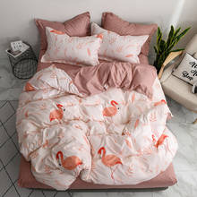 Pink 4pcs Girl Boy Kid Bed Cover Set Duvet Cover Adult Child Bed Sheets And Pillowcases Comforter Bedding Set 2TJ-61007(China)