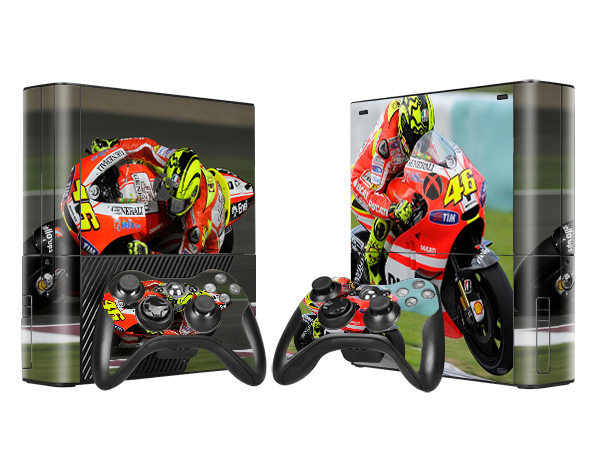 Cool Motorcycle Star Front&Back Waterproof Skin Sticker for Microsoft X BOX 360 E Console + 2 Controller Cover Skins(China (Mainland))