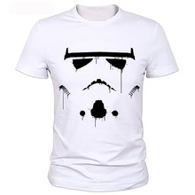 Cloning the pictures printed t-shirts White Summer Style Tshirt Manga T-shirt Star Wars Head Sublimation Graphic Print T Shirt
