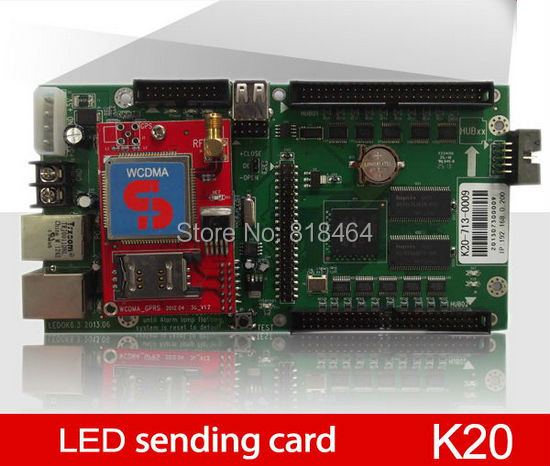 Wifi LED Display Control Card K20 640x480 Pixels Full Color Sign Support 3G Communication - Firstar(MyLED store Optoelectronics Co.,Ltd)