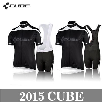 New Styles team cube Cycling Jerseys Bike Jersey +bib cycling Shorts cube 2015 Men's sports riding bicycle clothes Fast shipping(China (Mainland))