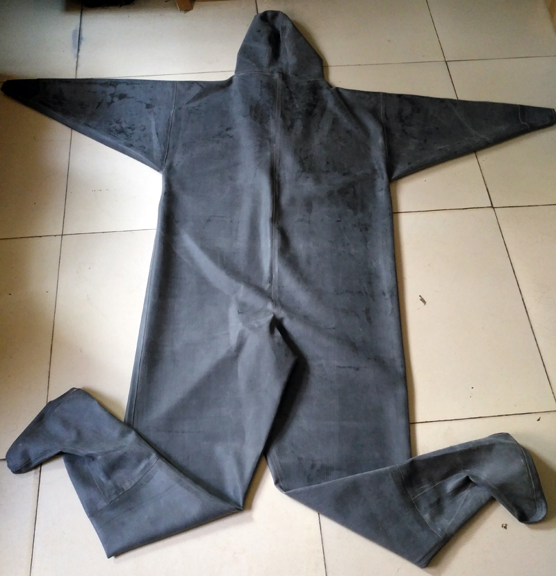 Pure Rubber Zip Waders with Rubber Socks 11