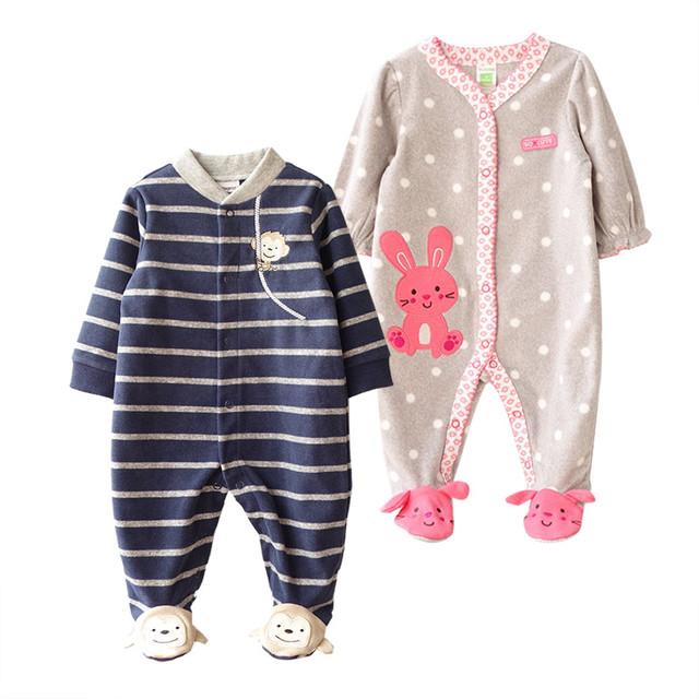 Девочка romper марка младенческой мальчик флис костюм тела ropa де bebe новорожденных малышей комбинезон новорожденных детская одежда