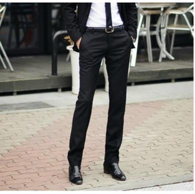 Mens Skinny Suit Pants Dress Yy