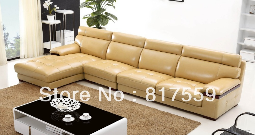 Aliexpresscom buy leather sectional sofa kuka from for Kuka sectional leather sofa