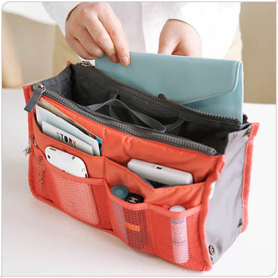 Best Seller Portable Multifunctional Storage Double Zipper Travel Bag Insert  with Pockets