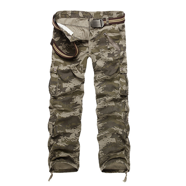 2015 New Fashion Mens Casaul Military Camouflage Cotton Pants Male Army Multi-Pockets Cargo Pants Outdoor Trousers PantalonesОдежда и ак�е��уары<br><br><br>Aliexpress
