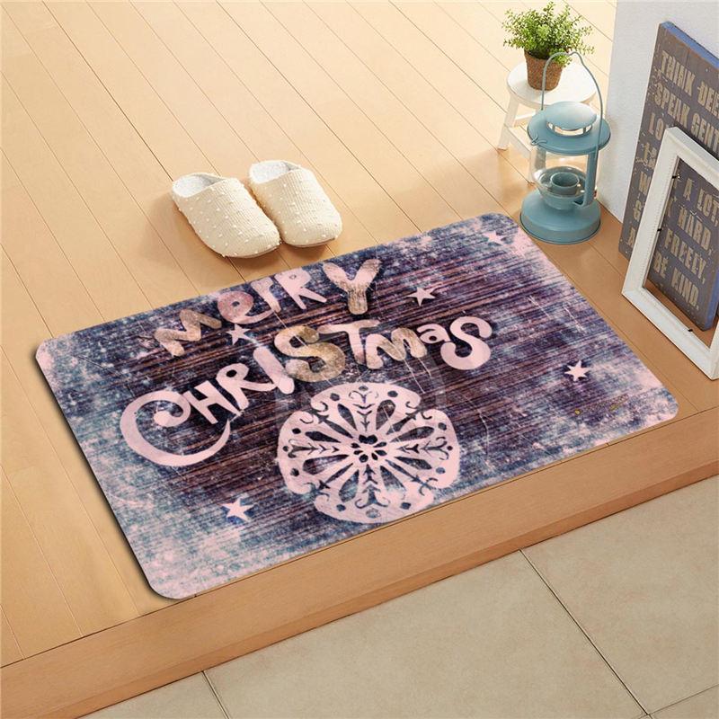Decorative Shower Mats : U b custom snow merry christmas doormat home decor door