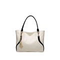 White Colors Women Messengers Handbags Solid PU Leather Totes Soft material Top handle Bag Ladies Travel