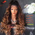 8A Grade Ombre Full Lace Wig Human Hair 3 Tone Ombre Lace Front Wig Brazilian Virgin