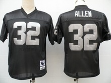 Stitiched,Oakland Raiders marcus allen Ronnie Lott ken stabler Jim Plunkett Darren McFadden fred biletnikoff Throwback for men(China (Mainland))