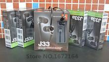 Nueva J33 Original versión de línea Fideos bass en la oreja los Auriculares de 3.5 MM enchufe General de tapones para los oídos Auriculares de música MP3 MP4 auriculares