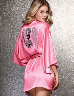 Womens pajamas new secrets of Vitoria Peach Pink Wings Rhinestone gownОдежда и ак�е��уары<br><br><br>Aliexpress