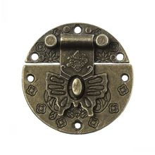 """Dorabeads Jewelry Wooden Box Lock Buckle Decorative Hardware Butterfly Clasp Antique Bronze 3.9cm(1 4/8"""") Dia,10 Sets(China (Mainland))"""