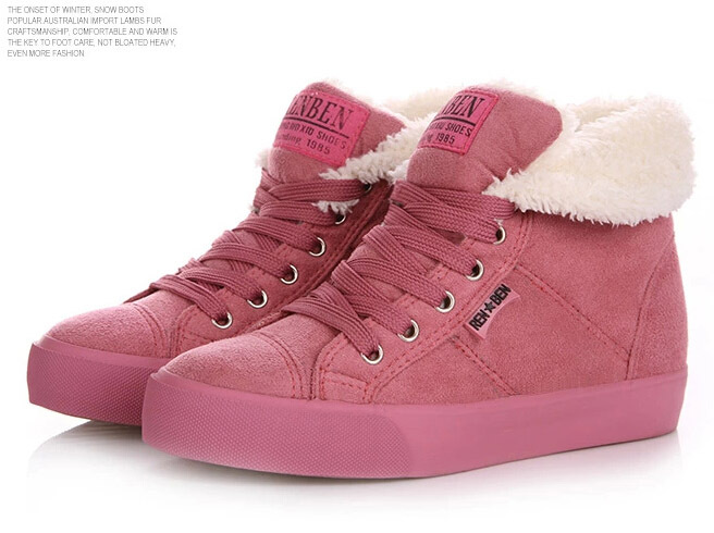 2014 Hot Autumn Winter Velutinous Thermal Liner Snow Boots High-Top High Increased Shoes Woman - iGem store