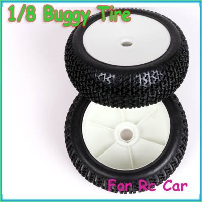 FreeShipping!!!Wheel Tires Tyre Set For 1/8 Buggy HSP RC Car auto tire