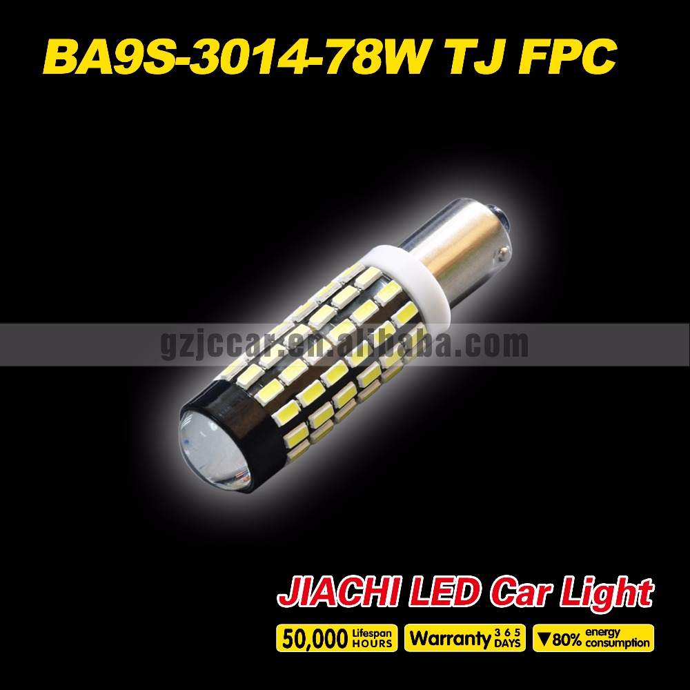 Car accessories shops stylish 12v-24v BA9S marker lamps light bulb 3014chip 78smd with lens(China (Mainland))
