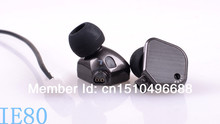 Free Shipping IE80 high fidelity noise-isolating ear-canal phones with excellent soundstage (retail box and case not included)(China (Mainland))