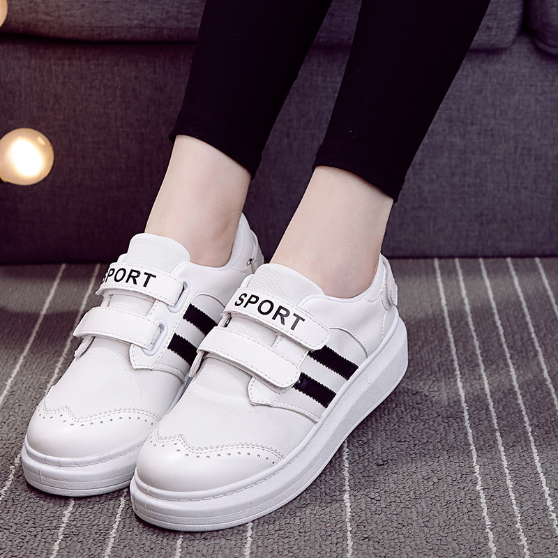 Keyconcept 2016 spring white Velcro shoes thick crust casual shoes / lazy shoes / fashion student woman shoes